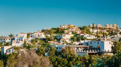 Mijas in Malaga, Andalusia, Spain. Summer Cityscape - stock photo