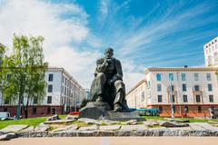 Monument In Honor Of The National Poet And Writer Of Belarus - stock photo