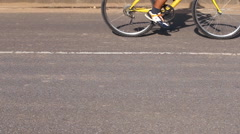 Bike riders on the street Stock Footage