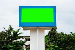Empty black digital billboard green screen for advertising Kuvituskuvat