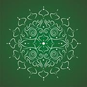 Abstract Floral Ornamental Background Stock Illustration