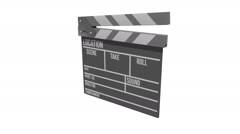Cinema clapperboard rotate animation Stock Footage