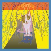 Spooky dog - stock illustration