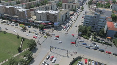 Pristina busy intersection Stock Footage