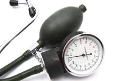 Old Sphygmomanometer - stock photo