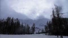 Winter time lapse in the Alps Stock Footage