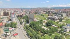 Pristina panoramic view Stock Footage