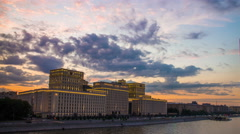 4k Timelapse of Moscow city at sunset time. Stock Footage