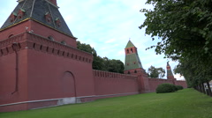 Kremlin wall with towers Stock Footage