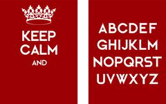 Stock Illustration of Keep calm empty poster red