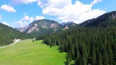 Stunning landscape of Dolomites Mountains Stock Footage
