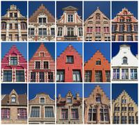 Houses of Bruges Stock Photos