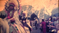 1951 Native people, Native dress, feather head dresses Stock Footage