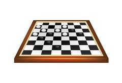 Checkers game Stock Illustration