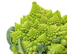 Green Fresh Romanesque Cauliflower Stock Photos