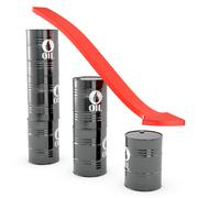 Oil loss of price graphic - stock illustration