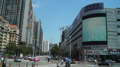 Urban road traffic landscape in Shenzhen, China - stock footage