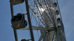 Ferris Wheel - Spinning - Seattle - 01 Stock Footage