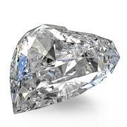 Heart shaped diamond Stock Illustration