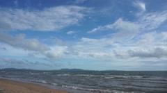 Sea, clouds, timelapse - stock footage