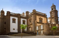 Las Palmas de Gran Canaria Santa Ana Cathedral - stock photo