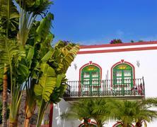 Gran canaria Puerto de Mogan white houses Stock Photos