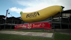 The  Big Banana Tourist attraction, Coffs Harbour, New South Wales, Australia Stock Footage