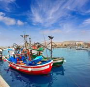 Arguineguin Puerto in Mogan Gran Canaria Stock Photos