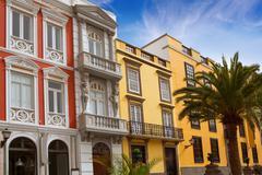 Las Palmas de Gran Canaria Veguetal houses Stock Photos
