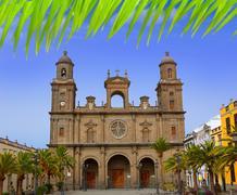 Cathedral of Santa Ana in Gran Canaria - stock photo