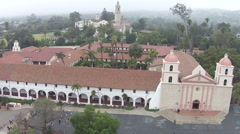 Santa Barbara Mission, in Santa Barbara California Stock Footage