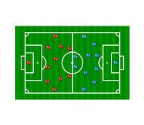 Football formation tactics  - stock illustration