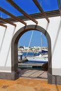 Lanzarote Marina Rubicon Playa Blanca Stock Photos