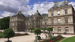 The Luxembourg Palace & Gardens (in 4k) in Paris, France. Stock Footage