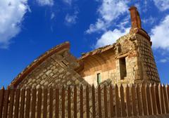 Coastal tower castillo de San Andres castle in Tenerife Stock Photos