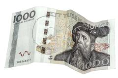Swedish 1000 kronor - stock photo