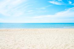 Empty sea and beach background - stock photo