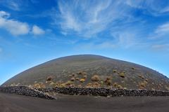 San Antonio volcano from Teneguia in La Palma - stock photo