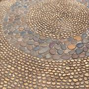 Small pebble brown stone decorated floor Kuvituskuvat