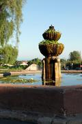 Santa Barbara Mission Fountain - stock photo