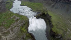 Large waterfall from above Stock Footage