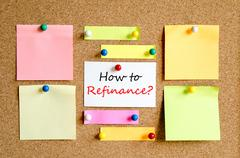 How to refinance text concept - stock photo