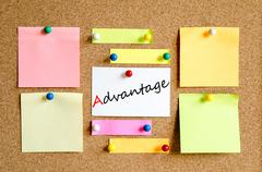 Advantage text concept Stock Photos