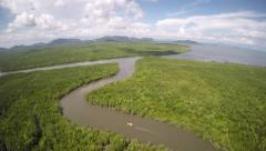 4K Aerial Footage of Koh Lanta Mangrove, Thailand Stock Footage