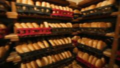 Bread store shelves Stock Footage