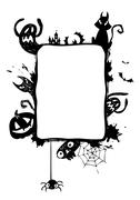 Stock Illustration of Halloween vector frame.