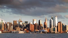 Beautiful Midtown Manhattan Skyline timelapse with Empire State Building 4K NYC Stock Footage