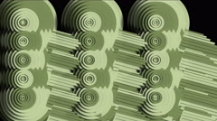 4k Abstract industry machine gear,round circle machinery,fractals geometry art. Stock Footage