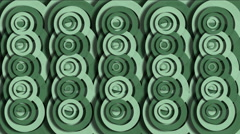 4k Abstract circle ring ripple cloud pattern,round paper,biscuit snacks texture Stock Footage