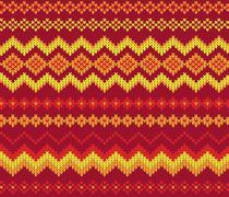 Stock Illustration of seamless knitting pattern